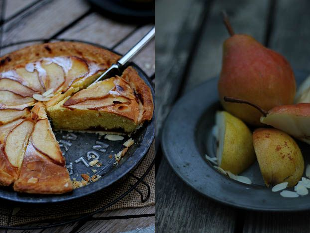 Pear Bakewell tart, another slice please!