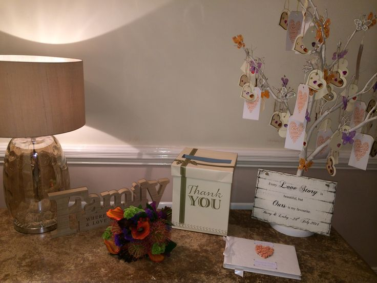 Wedding guest message table
