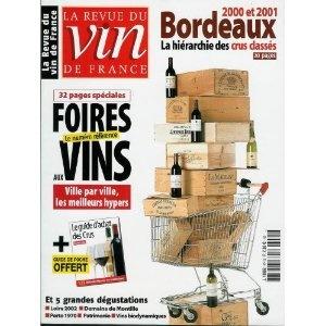 La Revue du vin de France - n°474 - 01/09/2003 - Foires aux vins / Le Guide d'achat des crus [magazine mis en vente par Presse-Mémoire]
