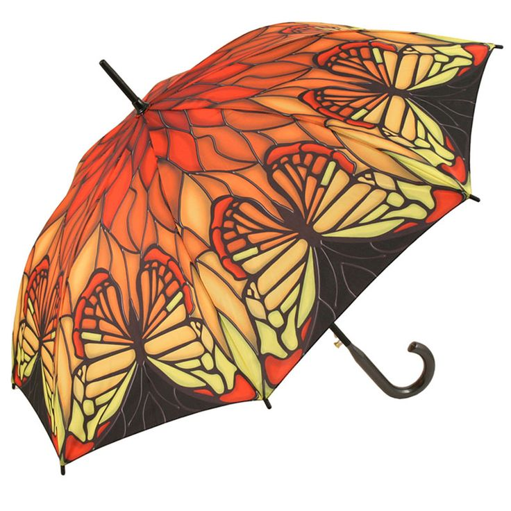 Galleria Stain Glass Butterfly Full Length   At Umbrellas U0026 Parasols