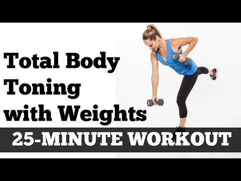 Full Body Full Length Fat Burning Workout | Total Body Toned 25 Minute Home Exercise With Dumbbells - YouTube