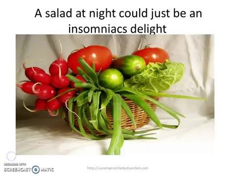 To grab your FREE copy of morning wood click this link http://tinyurl.com/mwoodrep   The best organic vitamin supplements can be found here http://tinyurl.com/zufgcoq   Vegetables that can help with insomnia http://curemyerectiledysfunction.com/vegetables-that-can-help-with-insomnia