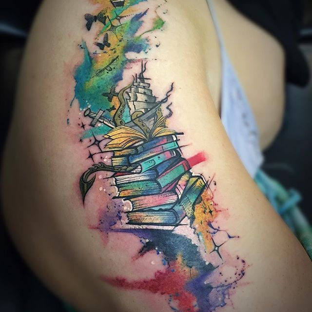 Best 25+ Open Book Tattoo Ideas On Pinterest