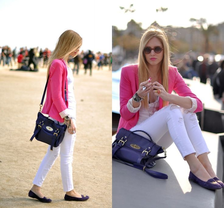 Chiara Ferragni - Zara Pink Jacket - Pink and purple Mulberry- The Blonde Salad | LOOKBOOK