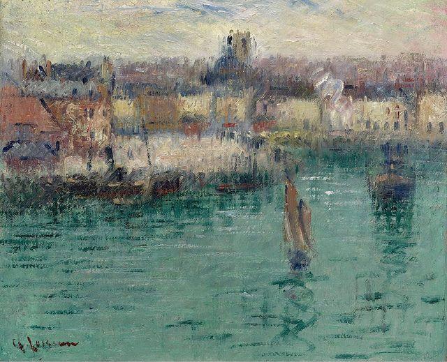Gustave Loiseau - Dieppe, the Port of Avant [1929]