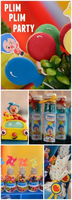 You have to see this colorful Plim Plim birthday party! See more party ideas at CatchMyParty.com!