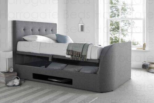 5ft-Barnard-Wool-Smoke-Fabric-King-Size-Ottoman-Storage-TV-bed-Holds-Upto-42-034-TV