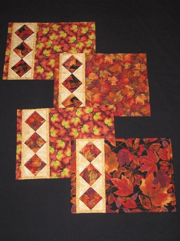 Looking for your next project? You're going to love String of Diamonds Placemats by designer canuckquilter.