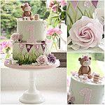 Teddybear picnic cake por Cotton and Crumbs