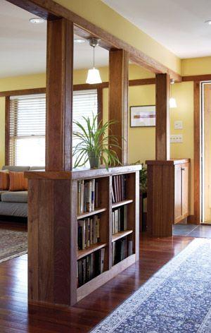 Shelves Built Into Columns Accentmagazine Com Diy Home
