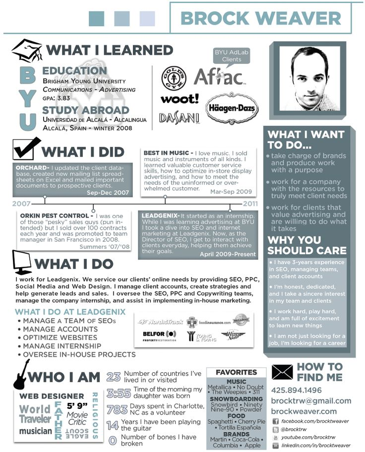 21 best Out of the Box Resumes \ Misc Interview Tips images on - Resume Examples Byu