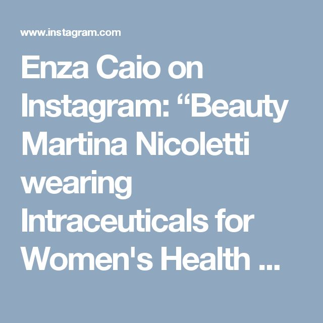 """Enza Caio on Instagram: """"Beauty Martina Nicoletti wearing Intraceuticals for Women's Health Magazine SA .... so you believe in beautiful looking skin ... let's make…"""""""