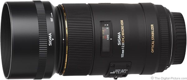 Sigma 105mm f/2.8 EX DG OS HSM Macro Lens Product Images
