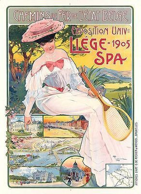 Vintage Liege Belgium Tourism Poster A3 by VintagePosterShopUK