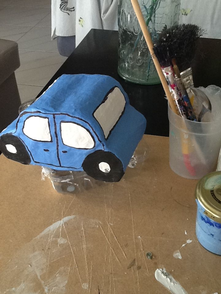 how to make a paper mache car