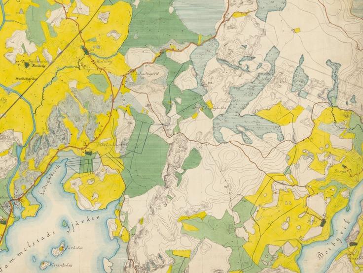 Senaatin karttojen Helsingin ympäristöä koskevia lehtiä (osakopioita). Mittaus 1872-73. Kansallisarkisto