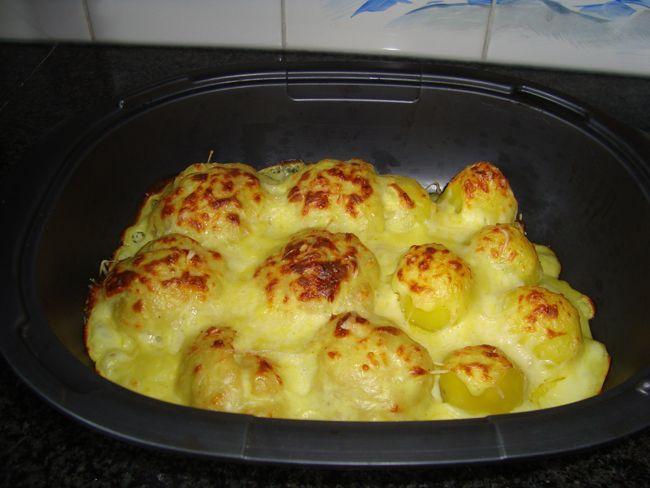Bloemkool met melksaus of kaassaus en aardappelen in de thermomix, Recepten - Groenten, Gette.org