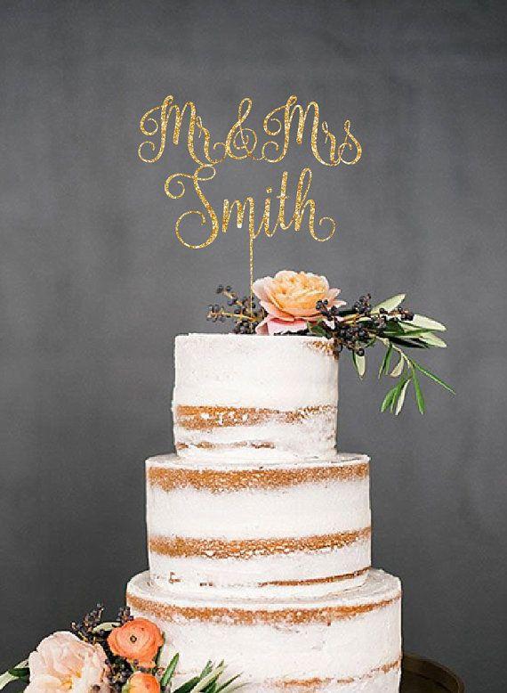 Wedding Cake Topper Custom Cake Topper Mr by CustomMadeJust4You