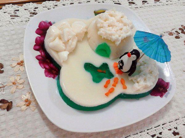 طرز تهیه ژله قطبی برای تولد بچه ها مجله تصویر زندگی Food Desserts Cake
