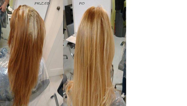 Z rudego na blond ,przed i po koloryzacji by Natalia HR-Studio Zambrów 886 501 501