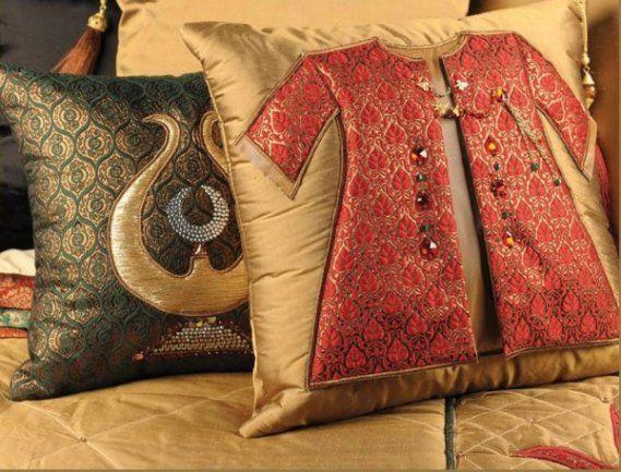 Kolay Dekor  » Osmanlı Desenli Kırlent Modeli