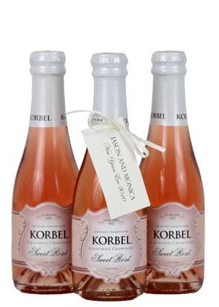 Individual Size Bottles Of Champagne By Korbel Unique