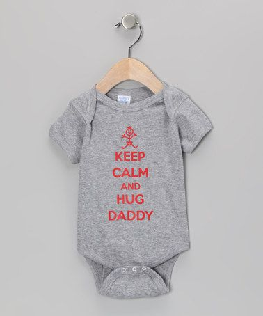 Take a look at this Athletic Heather Hug Daddy Bodysuit - Infant by Donkey Tees on #zulily today!