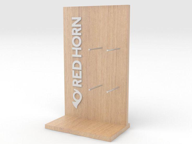 exhibidor madera red horn