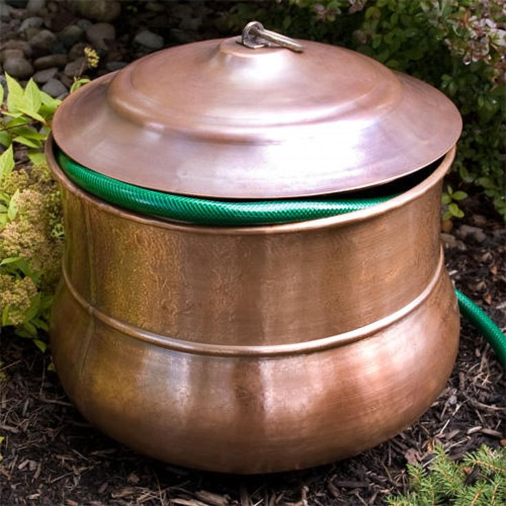 Small Textured Copper Hose Pot   With Lid