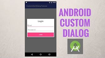 In this tutorial you will learn how to create Android custom dialog. We will start first by creating AlertDialog using AlertDialog builder, and then we will design an XML resource layout file that we will use later for the custom alertdialog.  Social media: ▶Twitter: https://twitter.com/codingdemos