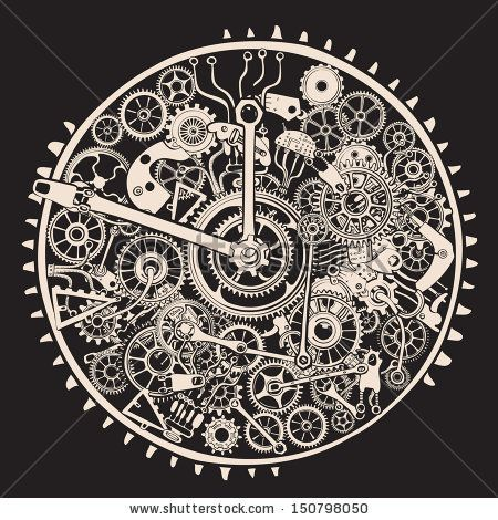 Cogs and Gears of Clock. by RYGER, via Shutterstock