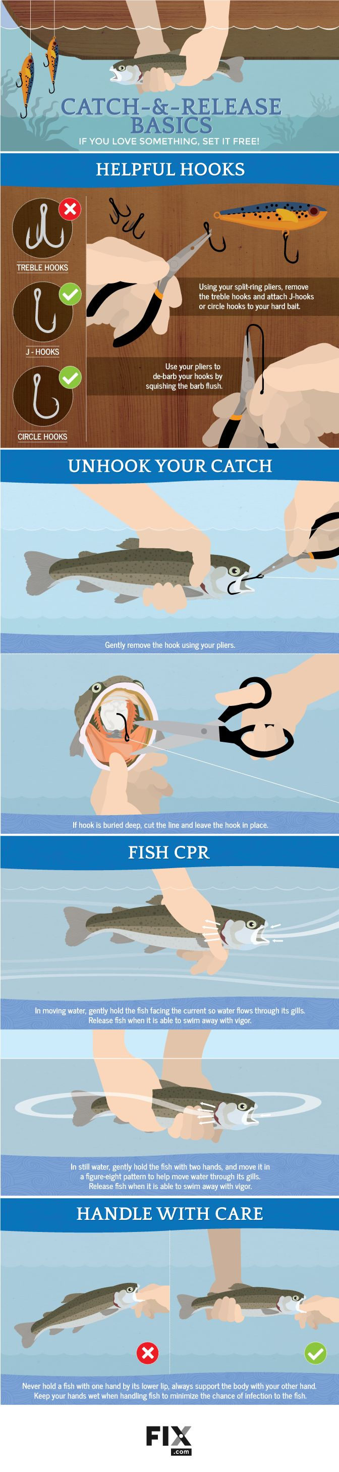 Guide to Catch-and-Release Fishing  #infographic #Fishing