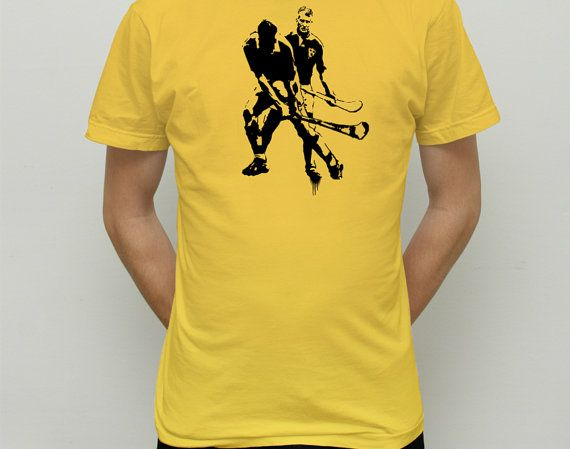 Samuel Beckett playing hurling t shirt by COMEBACKPETER on Etsy, £15.00