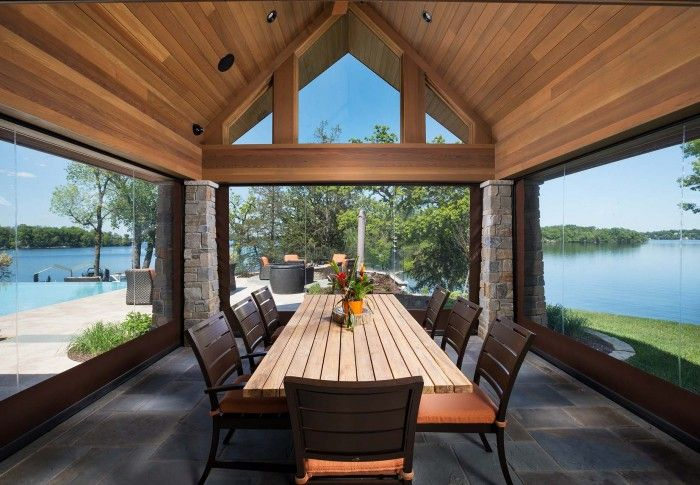 Phantom Executive Motorized Retractable Screens provide shade, insect protection and unobstructed views at the touch of a button.