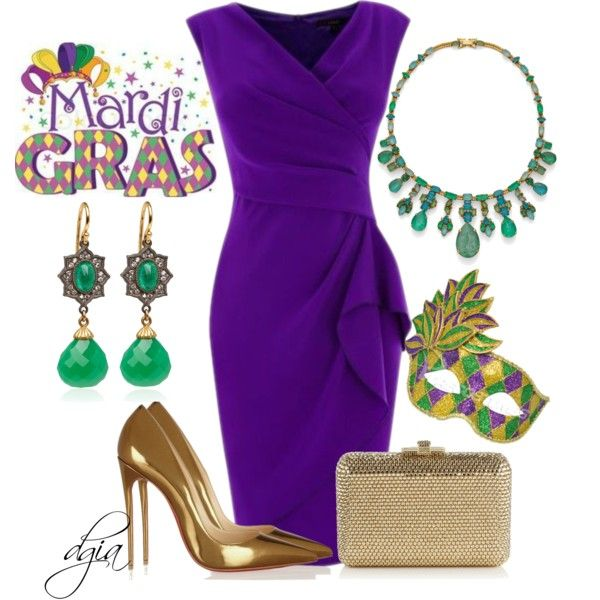 """Mardi Gras"" by dgia on Polyvore"