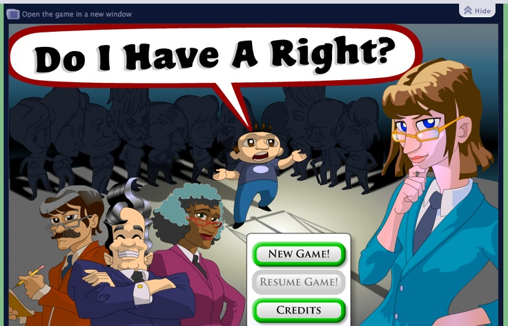 5 different interactive games that center around government from running for office to trying to persuade the Supreme Court