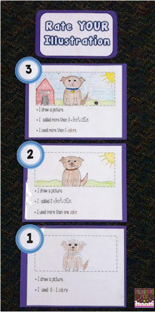 Illustration Rubric - teaching kids to self assess their work.