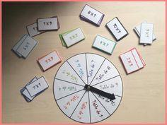 La roue des multiplications ! Un petit jeu pour aider les élèves dans la mémorisation des tables de multiplications.
