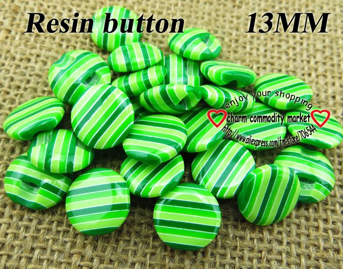200pcs 13MM green stripe Resin coat  button sweater for sewing kid buttons decoration craft R-174-2 $6,71