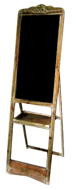 "Freestanding Blackboard. Height: 64"" - 163cm Width: 18.5"" - 45cm Depth (open): 20.5"" - 52cm"