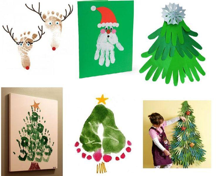 Новогодние открытки своими руками с детьми 2-3, храни тебя