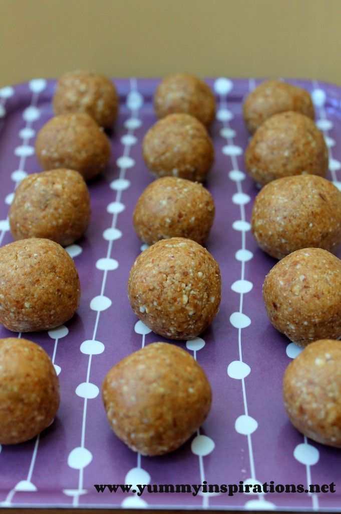 Cashew Butter Balls - A Kids Snack Idea - made from dates, cashews and cashew butter. The variation on these little guys are endless. And the rolling and formation of the balls is a great job for little hands!