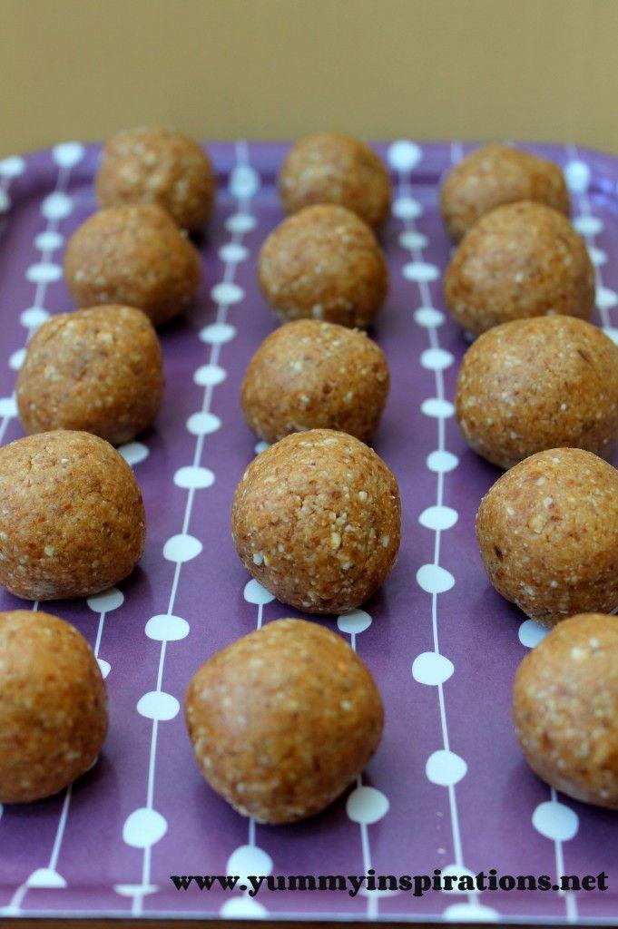 Raw Cashew Butter Balls - A Healthy Kids Snack Idea - Yummy Inspirations