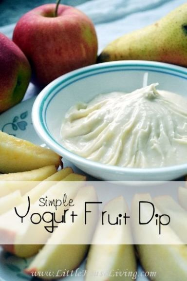 Very simple Yogurt Fruit Dip Recipe. Perfect for all the in season fruit right now!