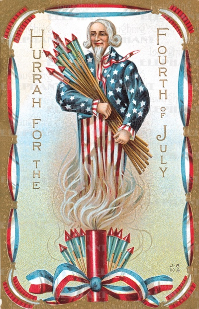 vintage firework postcard - North Central Industries - www.greatgrizzly.com - MUNCIE INDIANA WHOLESALE FIREWORKS