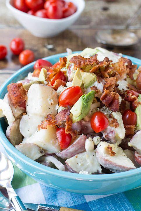 ... avocado bacon and blue cheese cobb potato salad with avocado bacon and