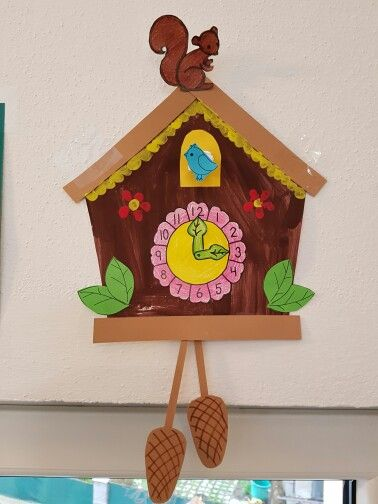"Cuckoo clock - classroom decoration.  Made these during our ""time"" unit."