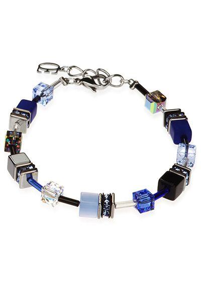 COEUR DE LION Geo Cube Blue Bracelet