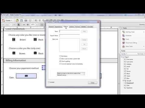 how to create a form in adobe acrobat xi pro