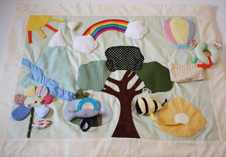 Coperta sensoriale tema Montagna di MaMa's baby Italy  su DaWanda.com